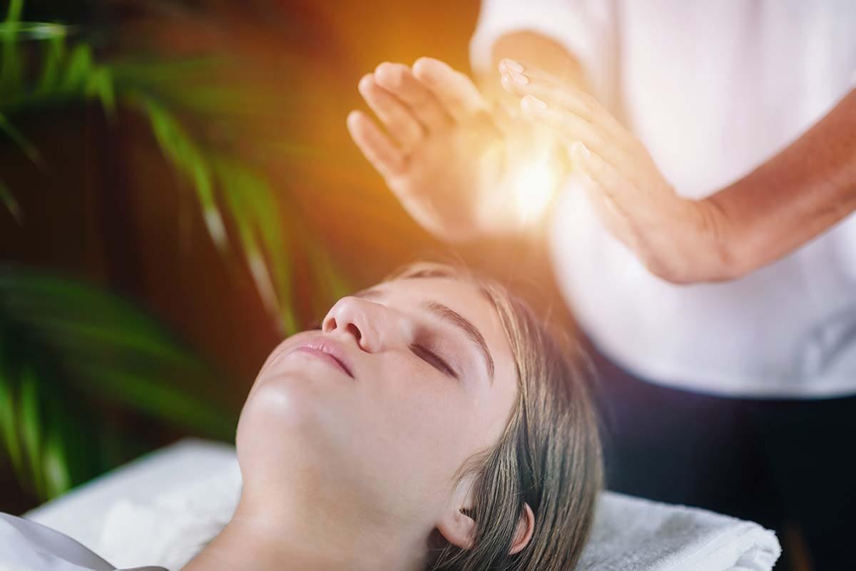 a woman getting holistic treatment