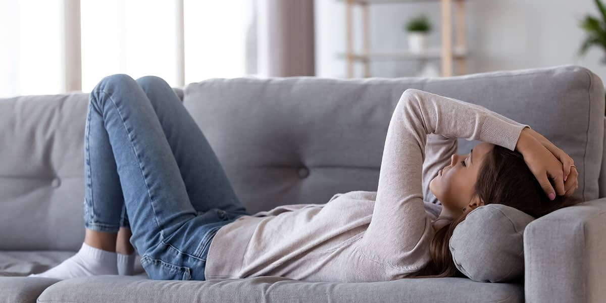 a woman feeling stressed from anxiety disorders