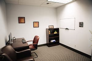 Cozy therapist's office at the Bayview Recovery Center