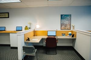 Open office area at Bayview Recovery Center