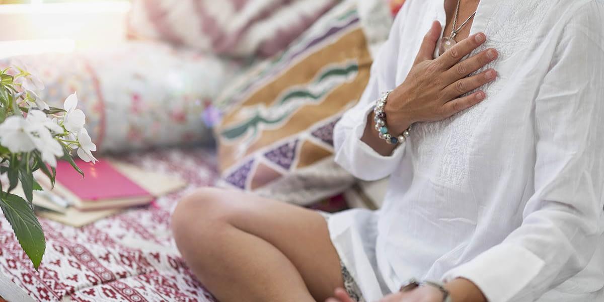 a woman going through holistic treatment options