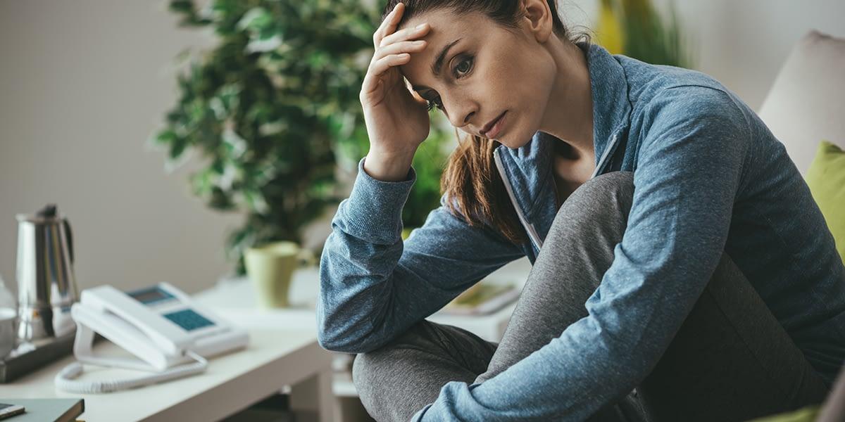 Woman struggling through GHB side effects