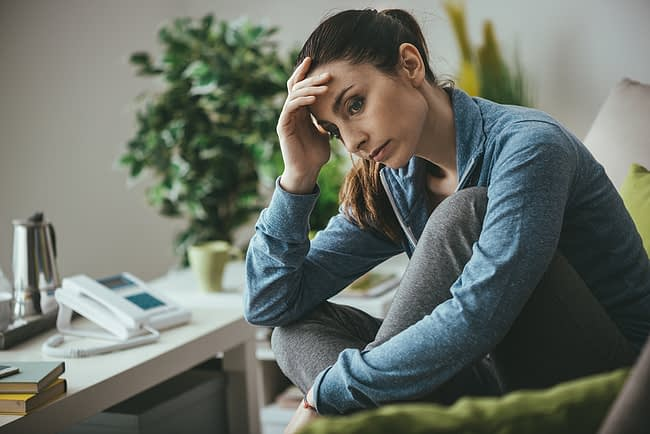 Woman struggling through GHB side effects