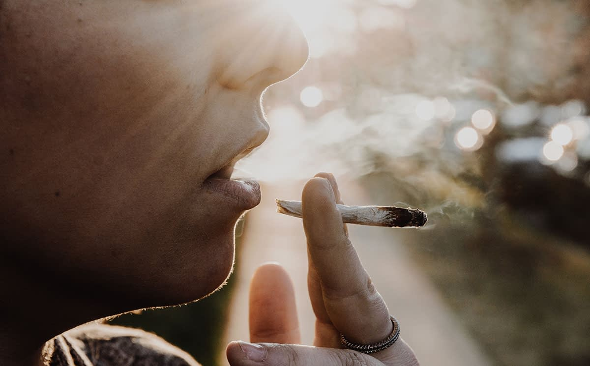 a person smoking without knowing the dangers of marijuana
