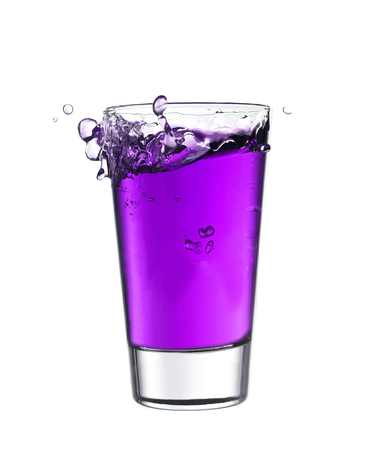 Glass of purple liquid brings up the question what is purple drank