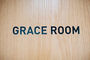Sign for the Grace Room at the Bayview Recovery Center