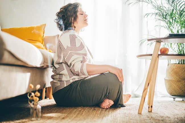 woman happy to be in her holistic drug rehab program