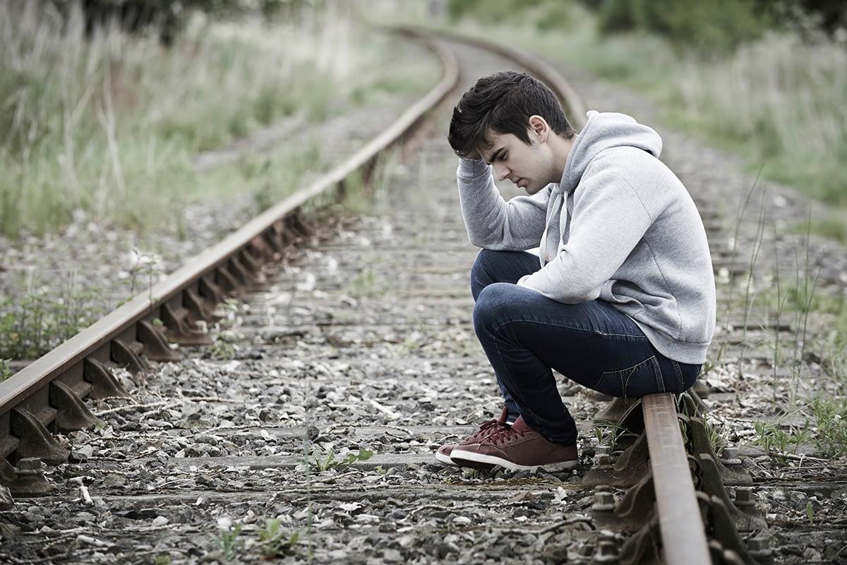 Man pondering the many Xanax addiction stories he's heard