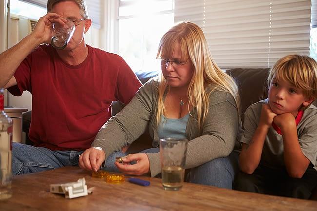 drug addicted parents