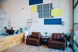 Waiting area and couches at the Bayview Recovery Center