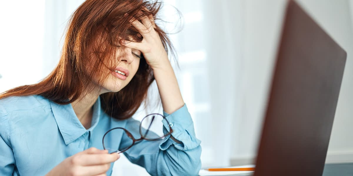 Woman looking stressed and emotional showing What Happens When Anxiety Goes Untreated