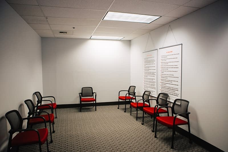 Group meeting room at the Bayview Recovery Center