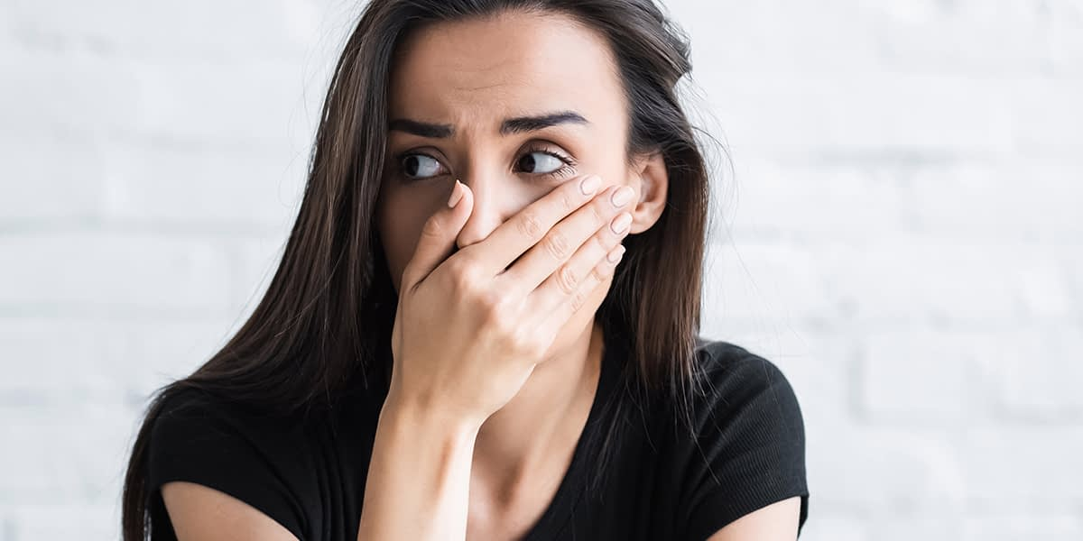 a woman worried and thinking do I have anxiety