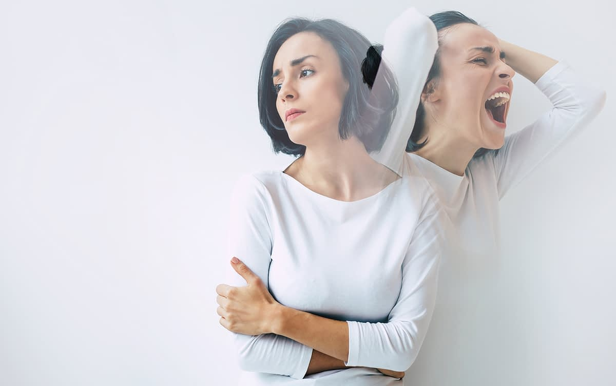 a woman showing the Early Signs of Bipolar Disorder