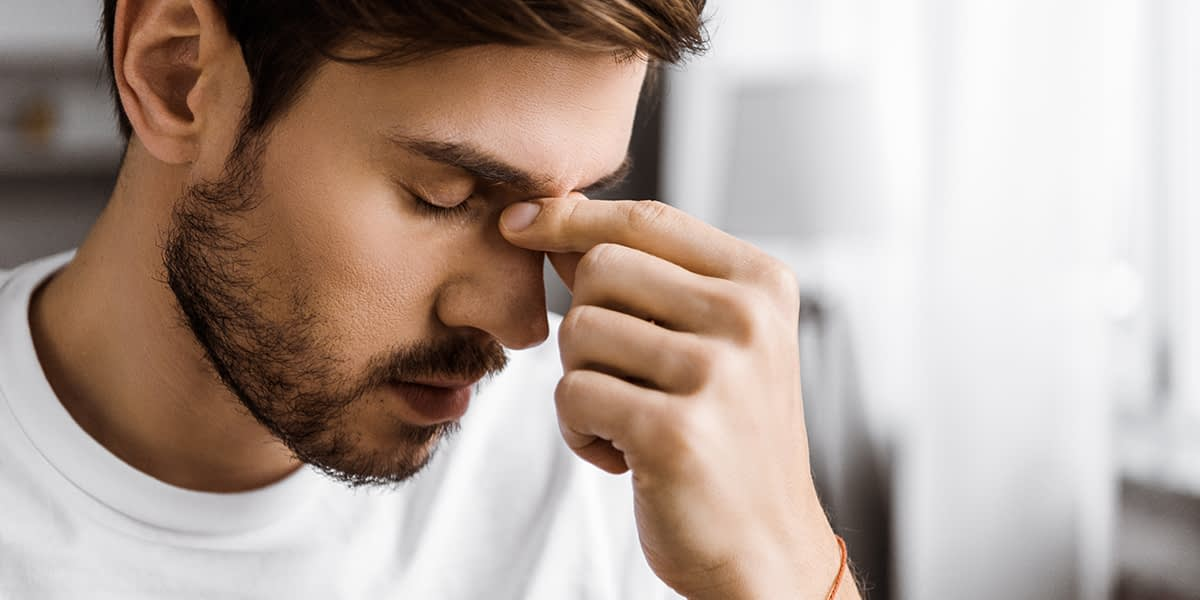 Man struggling due to imbalances caused by alcohol and dopamine