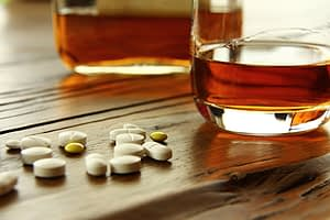 Picture of modafinil and alcohol