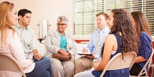 Group therapy is just one of the recovery options available.