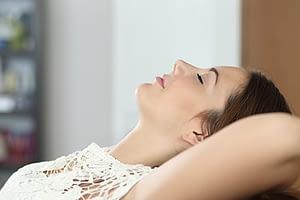 Relaxing alone is part of a women's drug detox program.