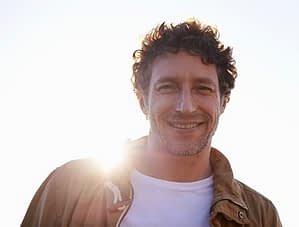 After addiction, sober living is like a ray of sunshine to this smiling man.