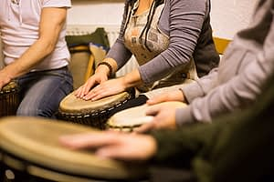Beating drums at rehab may help you understand how does music therapy work