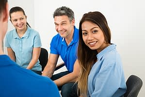 a group therapy session of ghi florida patients