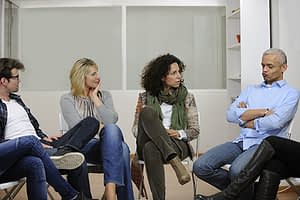 group therapy at an inpatient alcohol rehab center