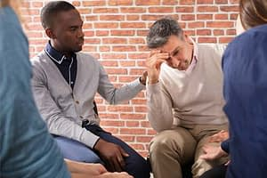man receives evidence based therapy program