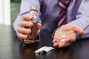 Polysubstance abuse among professionals usually involves pills and alcohol.