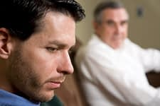 Father and son wondering is alcoholism genetic