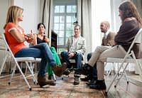 Group therapy is standard during detox and addiction treatment.
