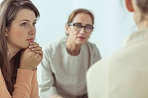 Group therapy session at a West Palm Beach inpatient detox program