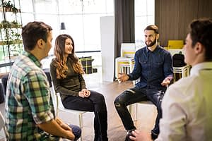 group therapy at a vyvanse addiction treatment