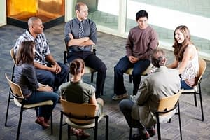 Group addiction counseling is popular in treatment centers.