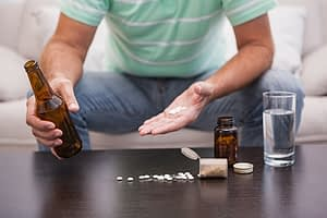 Man taking alcohol and xanax is in for trouble