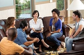 Group therapy session at Serenity House Florida