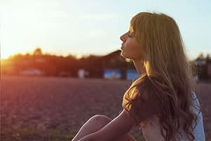 To define detox this woman meditating in the sunset agrees to treatment