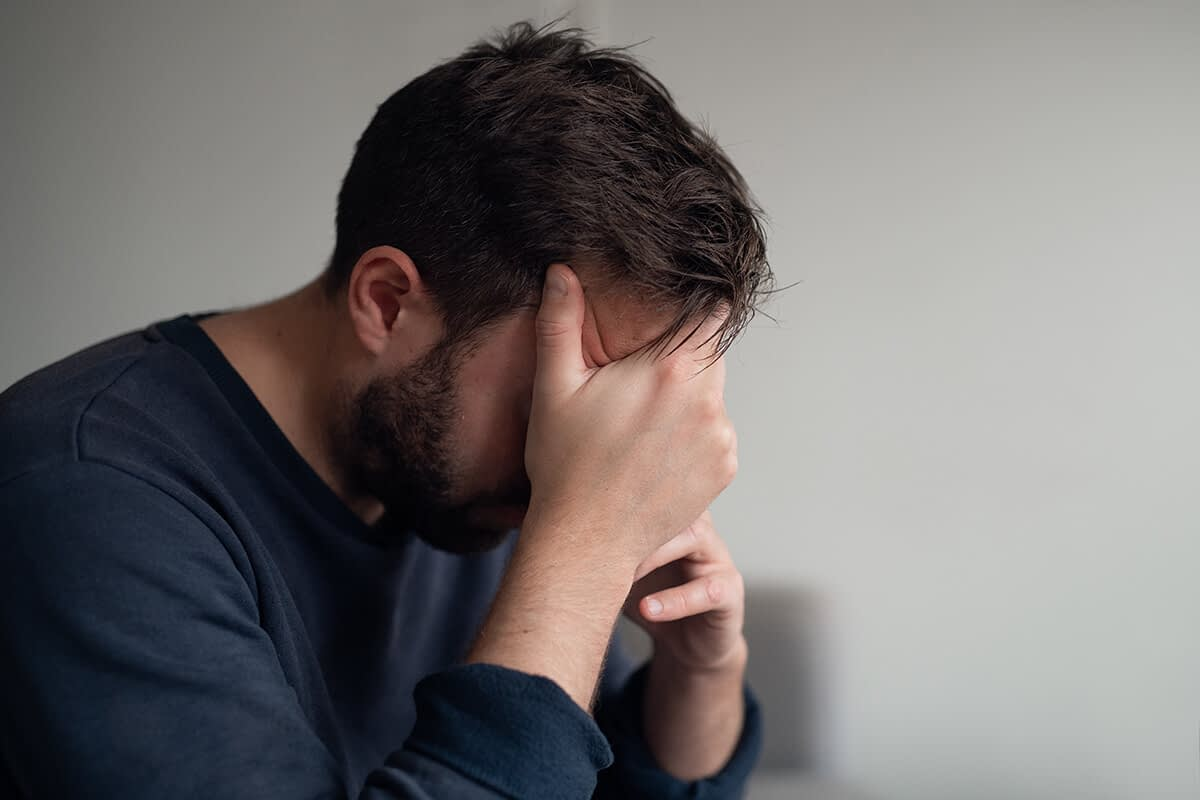 man having an opioid overdose