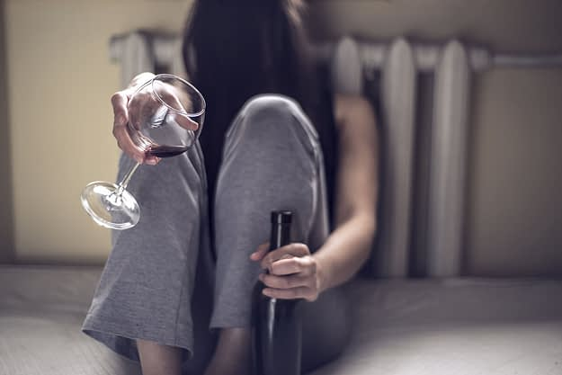 woman wondering if alcohol is a depressant