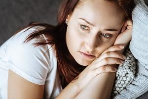 woman with an amphetamine addiction