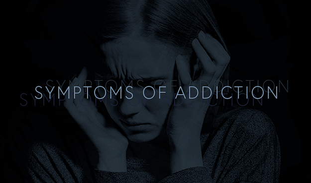 symptoms of addiction infographic