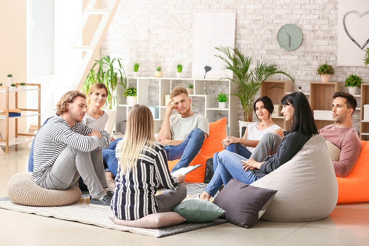 group of people in sex addiction rehab