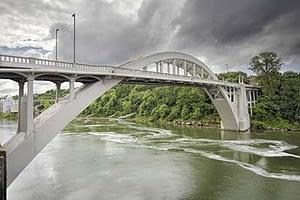 river and bridge near the drug rehab center near West Linn OR