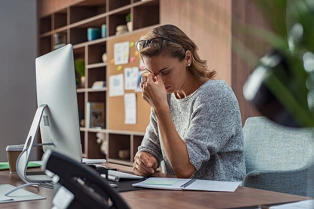 woman balancing work stress and recovery