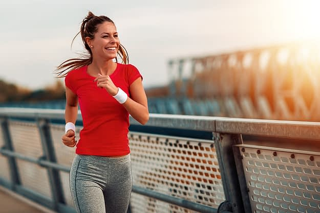 woman learning the importance of aftercare on a jog
