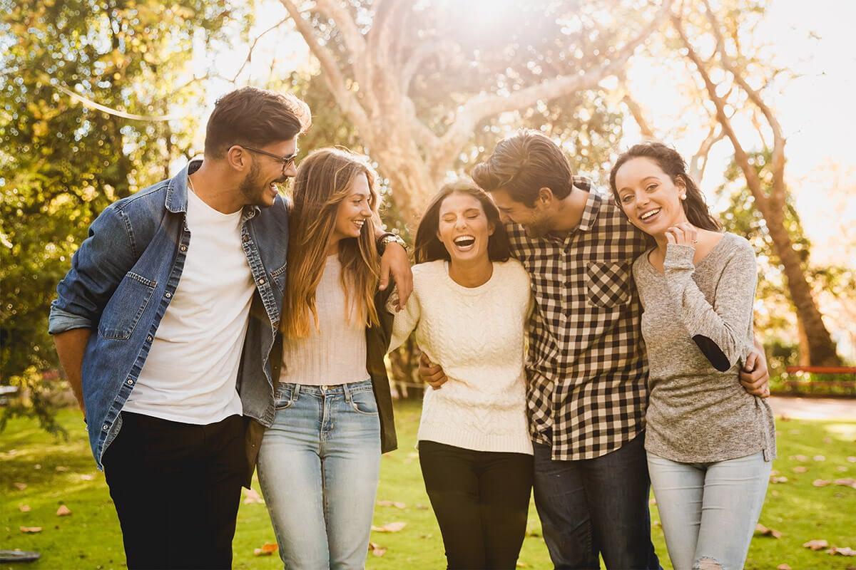 group enjoying the benefits of addiction treatment