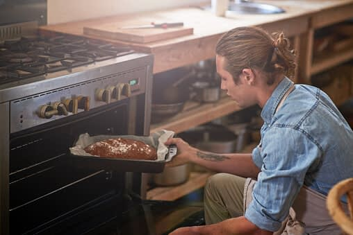 man learns cooking and other life skills in rehab