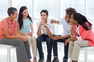 Addiction Recovery Information in group therapy