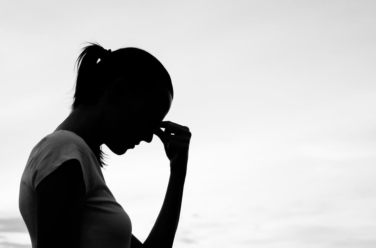 woman struggling during mental health awareness month