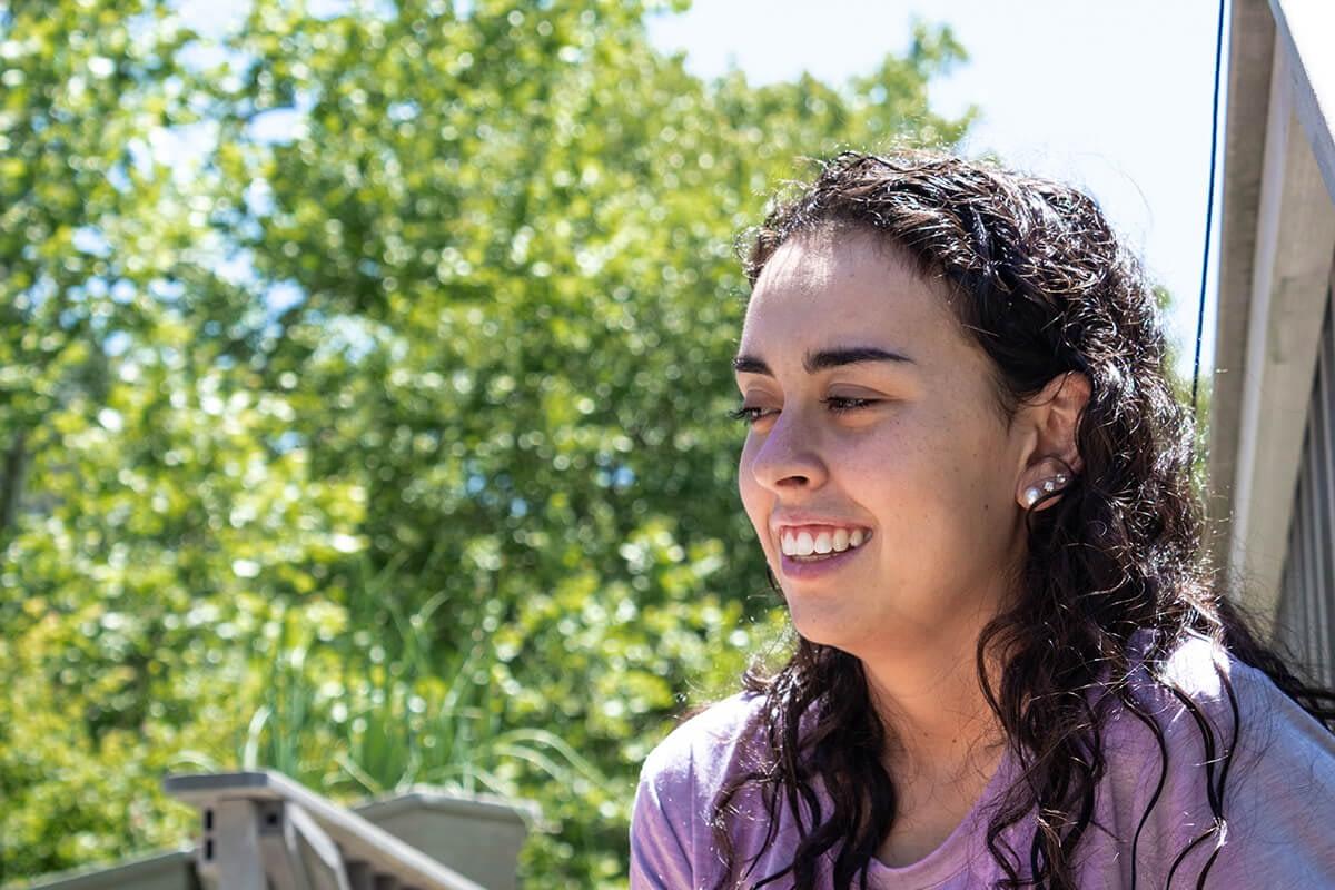 woman smiling at an albany drug rehab program
