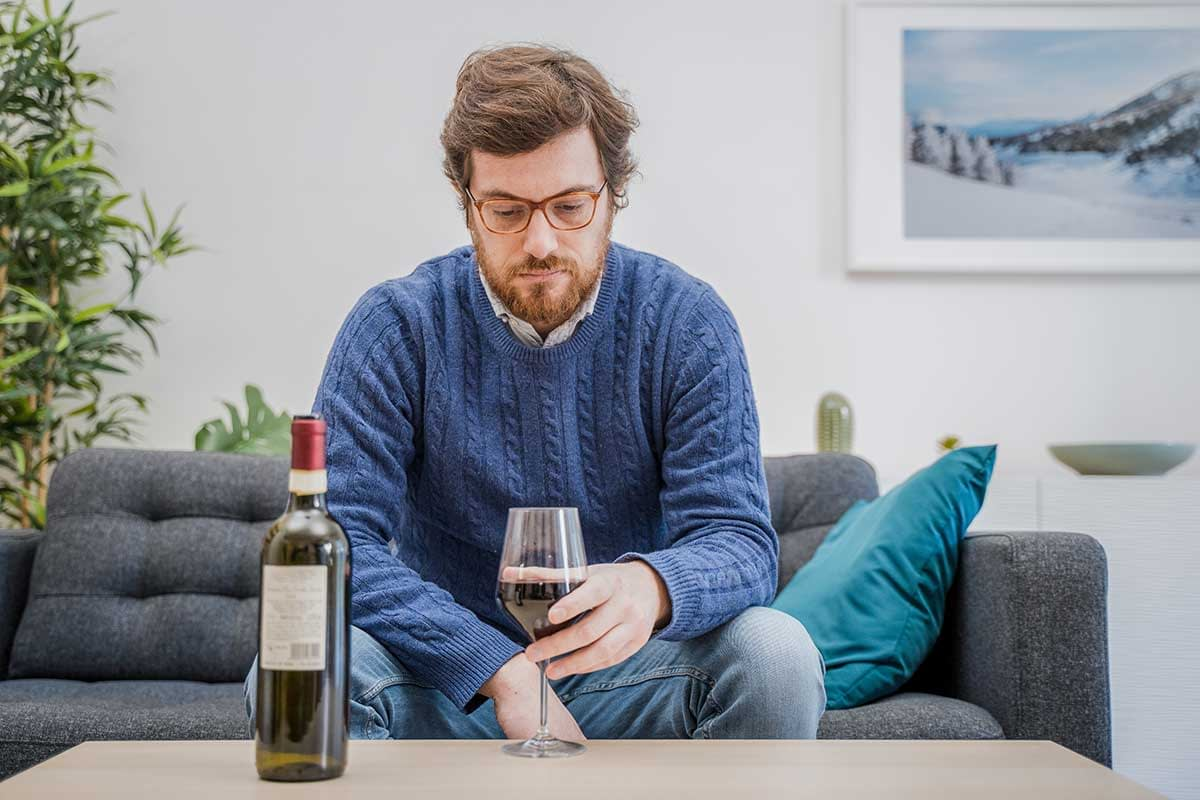 man at an alcohol rehab program near Bainbridge